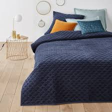 polochon quilted velvet bedspread