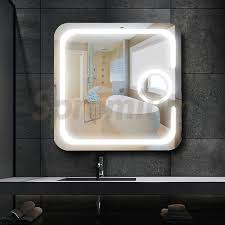 led bathroom magnifying mirror wall