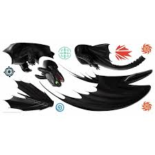 How To Train Your Dragon The Hidden World Toothless Wall Decals By Roommates