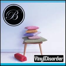 Vinyldisorder Solid Circle Border Cursive Letter B Monogram Letters Vinyl Wall Decal Sticke Shop Your Way Online Shopping Earn Points On Tools Appliances Electronics More