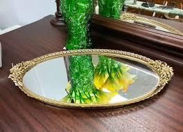 gorgeous vintage filigree vanity mirror