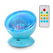 Ocean Wave Projector Night Light Projector With Remote Music Player Timer Room Decor For Infant Baby Kids Nursery Living Room And Bedroom Blue Walmart Com Walmart Com
