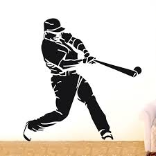 Baseball Players Wall Decal Sports Removable Stickers Boys Room Mural Decor Kids