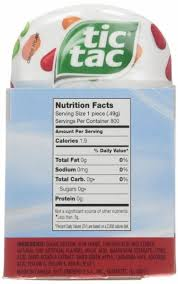 calories in tic tac fruit adventure