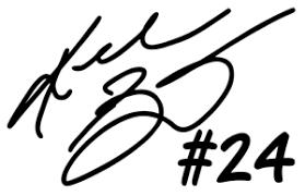 Kobe Bryant 24 Signature Vinyl Decal Bumper Sticker Basketball Windows Etc Ebay