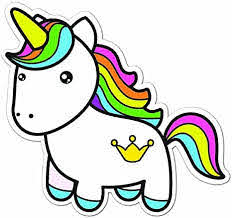 Amazon Com Colorful Rainbow Unicorn Full Color Vinyl Decal Sized For Stainless Steel Tumbler Everything Else