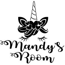 Unicorn Bedroom Door Wall Decal Mandy Simply Create Effect