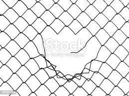 Free Clipart Iron Fence With Broken Gate Merlin2525