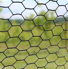 4 X 150 Steel Hex Web Blk Pvc Coated Fence Deerfence