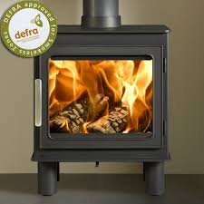 cleaning wood burning stove glass door