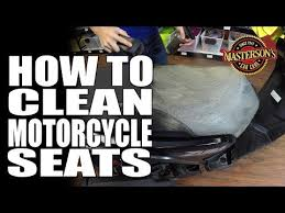 how to clean motorcycle seats