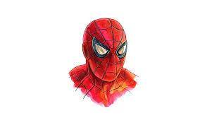 hd wallpaper spiderman minimalism