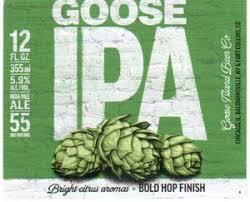 drink label goose ipa goose island