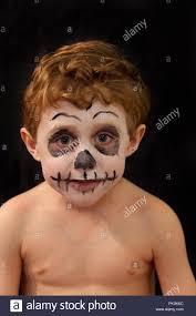 skeleton face paint stock photos