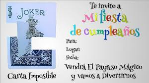 Invitacion A Cumpleanos Carta Imposible Youtube