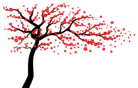 Red Cherry Blossom Tree Wall Decal Wall Tree Decal Tree Wall Decal Contemporary Wall Decals By Wall Decal Source