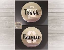 Trash Recycling Can Labels Trash Bin Decal Recycling Bin Etsy Recycle Trash Recycling Bins Trash And Recycling Bin