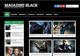 Magazine Dark Blogger Template in 2020 | Blogger templates, Magazine,  Blogger