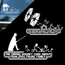Empire Doesn T Care About Stick Figure Family Decal Car Sticker Die Cut Vinyl Ebay