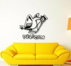 Wall Stickers Vinyl Decal Pelican Bird Animal Kids Room Decor Ig604 For Sale Online