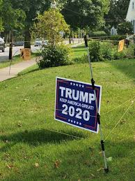 After Apparent Thefts New Bedford School Committee Member Puts Electric Fence Around Trump Yard Sign The Boston Globe