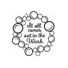 Laundry Room Decal Washing Machine Vinyl Sticker It All Etsy