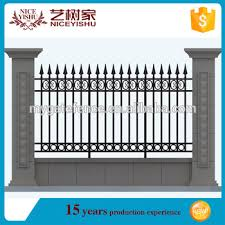Outdoor Decorative Wrought Iron Fence Design Cheap Iron Fence For Garden View Iron Fence Design Yishujia Product Details From Shijiazhuang Yishu Metal Products Co Ltd On Alibaba Com