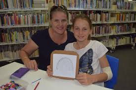 Heidi and Abby Stevens enjoying the school holiday activities at ... | Buy  Photos Online | News Mail