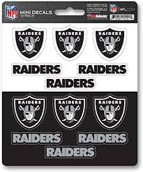 Amazon Com Fanmats Promark Nfl Oakland Raiders Decaldecal Set Mini 12 Pack Team Colors One Size Sports Outdoors