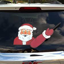 Amazon Com The Original Santa Claus Waving Winter Wipertag For Christmas Holiday With Decal Attaches To Rear Vehicle Wiper Blade Automotive