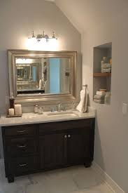 love the vanity and mirror offset sink