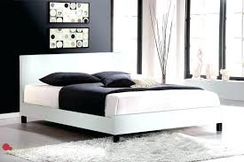 faux leather queen bed white leather