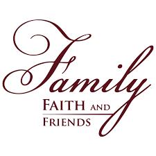 Family Faith And Friends Vinyl Decal Sticker Quote Large Burgundy Walmart Com Walmart Com