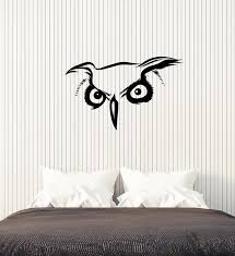 Vinyl Wall Decal Abstract Bird Nursery Kids Room Owl Head Stickers Mur Wallstickers4you