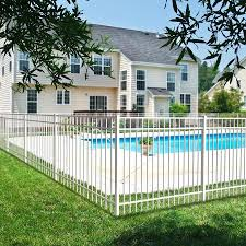 Ironcraft Berkshire Berkshire 4 Ft H X 6 Ft W White Aluminum Flat Top Yard In The Metal Fence Panels Department At Lowes Com
