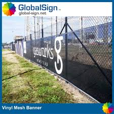 China Pvc Flex Fabric Mesh Fence Display Stand Banner For Advertising China Mesh Fence Banners Crowd Control Mesh Fence