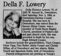 Della F Lowery Obituary Part 1 - Newspapers.com