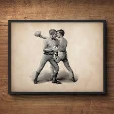 wall art boxing print vintage boxing