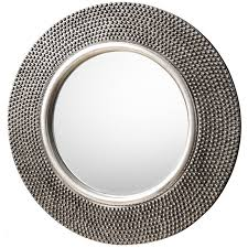 whittington grey round wall mirror by