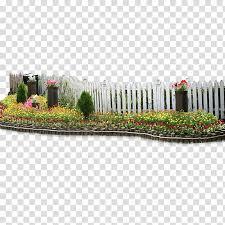 Fence Garden Flower Fence Transparent Background Png Clipart Png Free Transparent Image