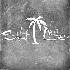 Salt Life Palm Tree Signature Decal