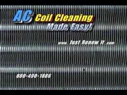 steam cleaner blasts clean ac coils