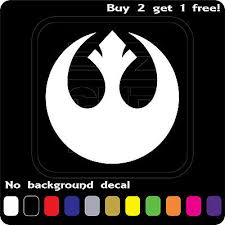 Rebel Alliance Star Wars Logo Sticker Vinyl Decal Car Window Jedi Ebay