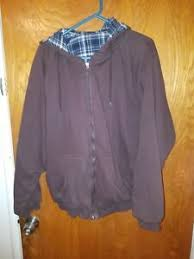 reversible jacket brown plaid xl