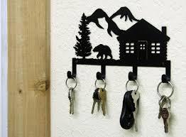 bear mountain cabin key holder woodland