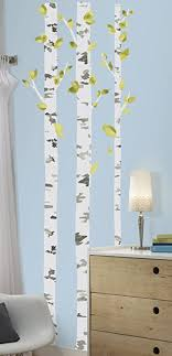Amazon Com Roommates Rmk2662gm Birch Trees Peel And Stick Giant Wall Decals Multicolor Home Improvement
