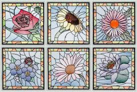 c1481 stained glass fl squares