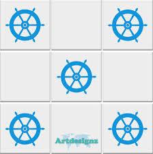 Seashell Tile Stickers Bathroom Sea Shell Nautical Vinyl Wall Art Car Decal Ad85