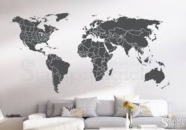 World Map Wall Decal Countries United States Map Canada Province Wall Art Chalkboard Black White Board Dry World Map Wall Decal Map Wall Decal World Map Wall