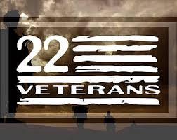 Veteran 22 Flag Suicide Awareness Ptsd Support Our Troops Sticker Vinyl Decal Rainbowlands Lk